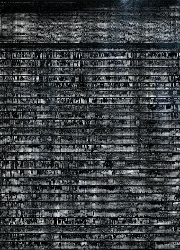 Антоніна Денисюк. Ритм міста, 2014; рисунок на папері, туш, 100х70 см