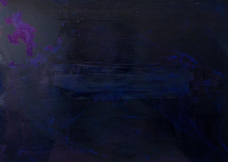 Антоніна Денисюк. Вплив фіолетового vol. 2, 2019; алебастр, рідке скло, полотно, 100х140 см