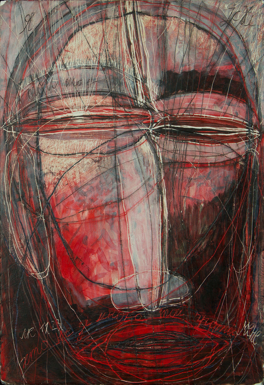 Олена Смага. Допоможи мені бути з Тобою, 2012; дошка, левкас, акрил, 38x26
