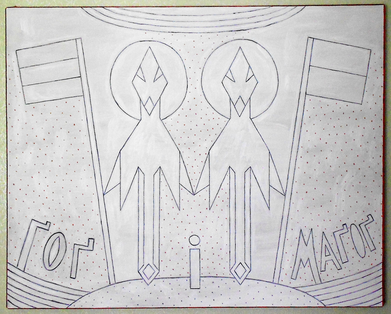 Любомир Тимків. Гог і Магог, 2020; полотно, олія, 140х170