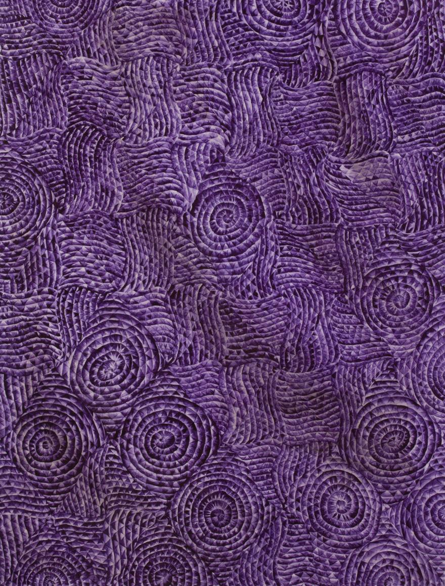 Антоніна Денисюк. Фіолетова колісниця, 1996; папір, акварель, 30х24 см