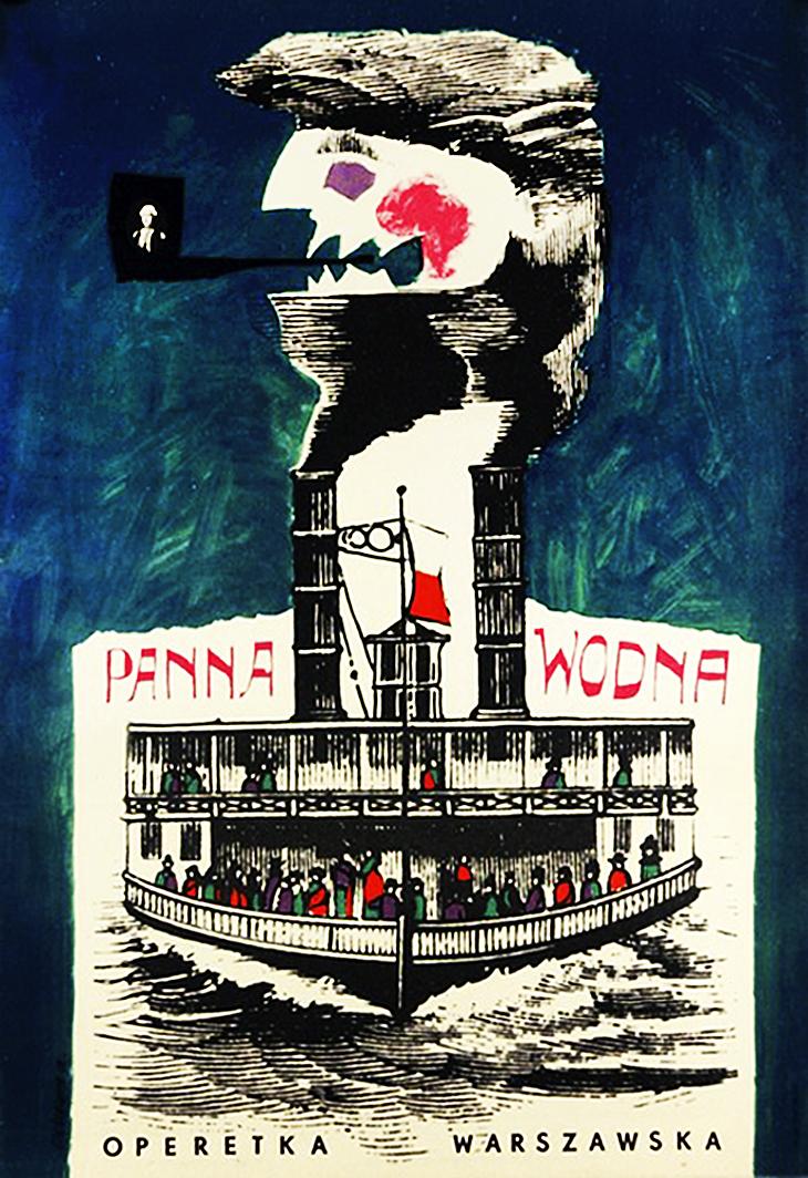 Роман Цеслевич. Балет «Діва води», 1962; постер