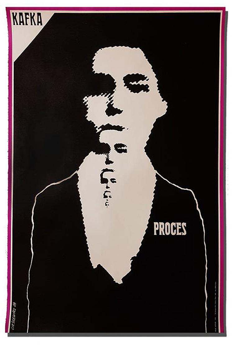 Роман Цеслевич. Кафка Процес, 1964; театральний плакат