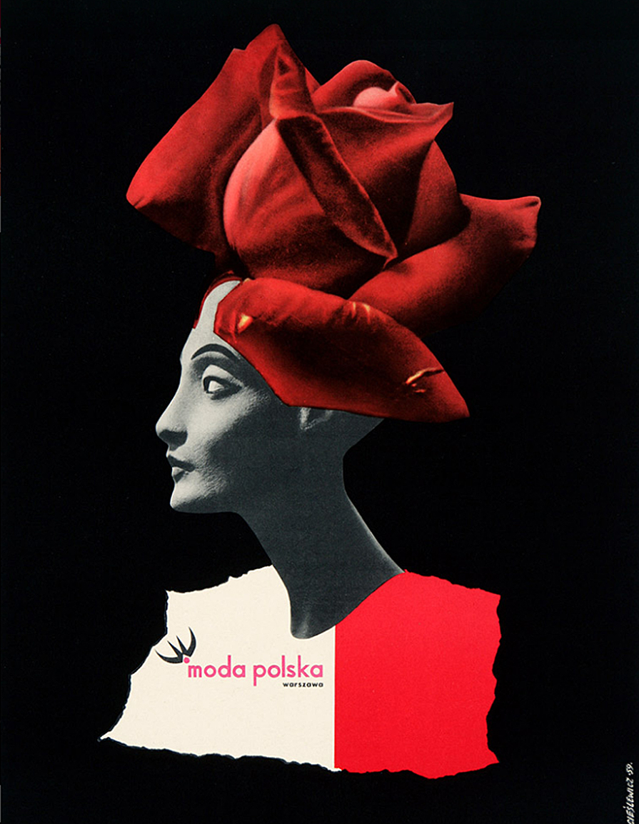 Роман Цеслевич. Мода польська, 1959; постер