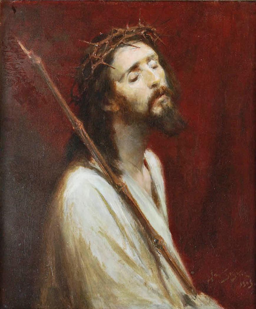 Ян Стика. Ecce Homo 1903; олія на полотні, 77х64 см