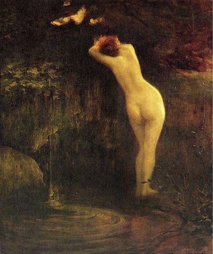 Ян Стика. Біля джерела, 1896