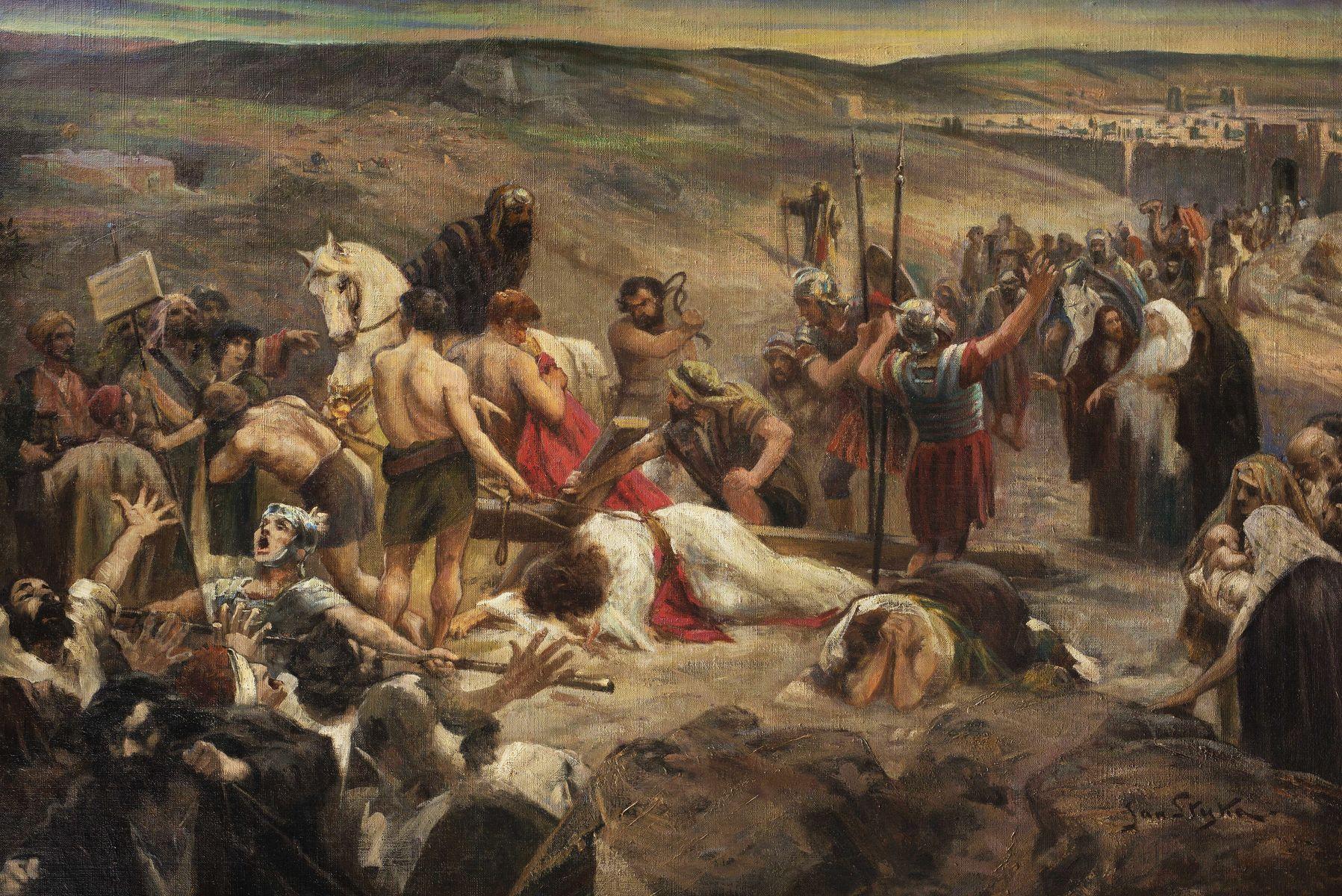 Ян Стика. Дорога на Голгофу, 1914; олія на полотні, 80х130 см