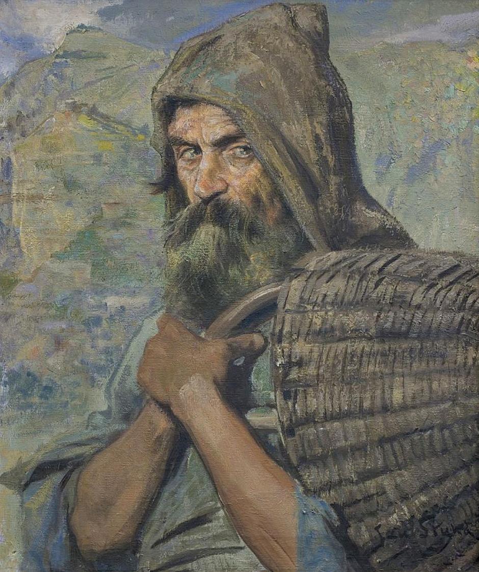 Ян Стика. Евмей (пастух Одісея), 1927; олія на полотні, 73х60 см