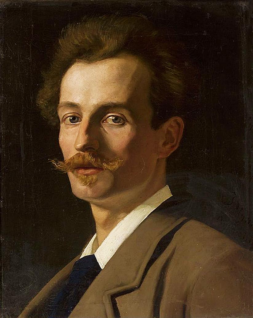 Ян Стика. Френсіс Крюдовський художник, 1882; олія на полотні, 42х34 см; NMW