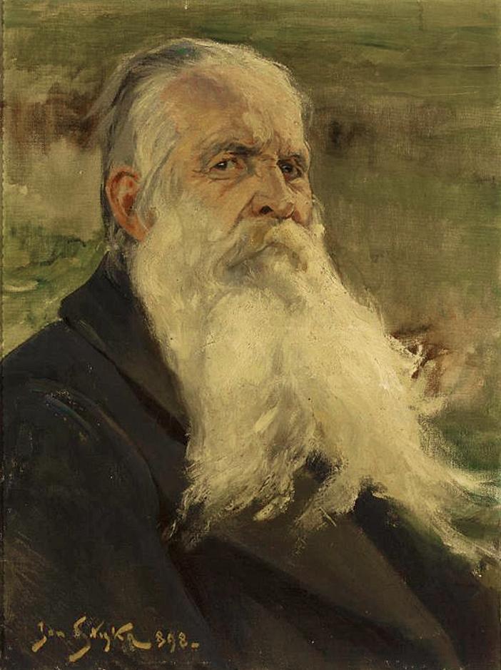 Ян Стика. Кароль Бжозовський поет, 1898; олія на полотні, 66х50 см; NMW