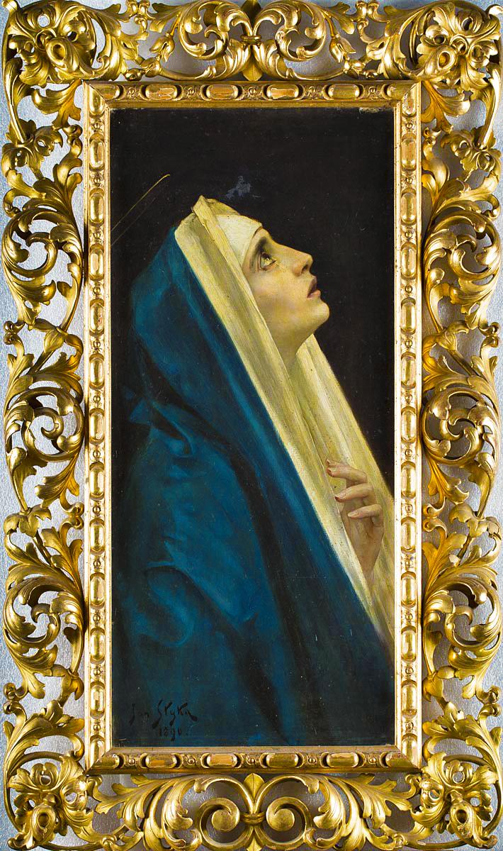 Ян Стика. Марія, 1890; олія на полотні, 84х38 см