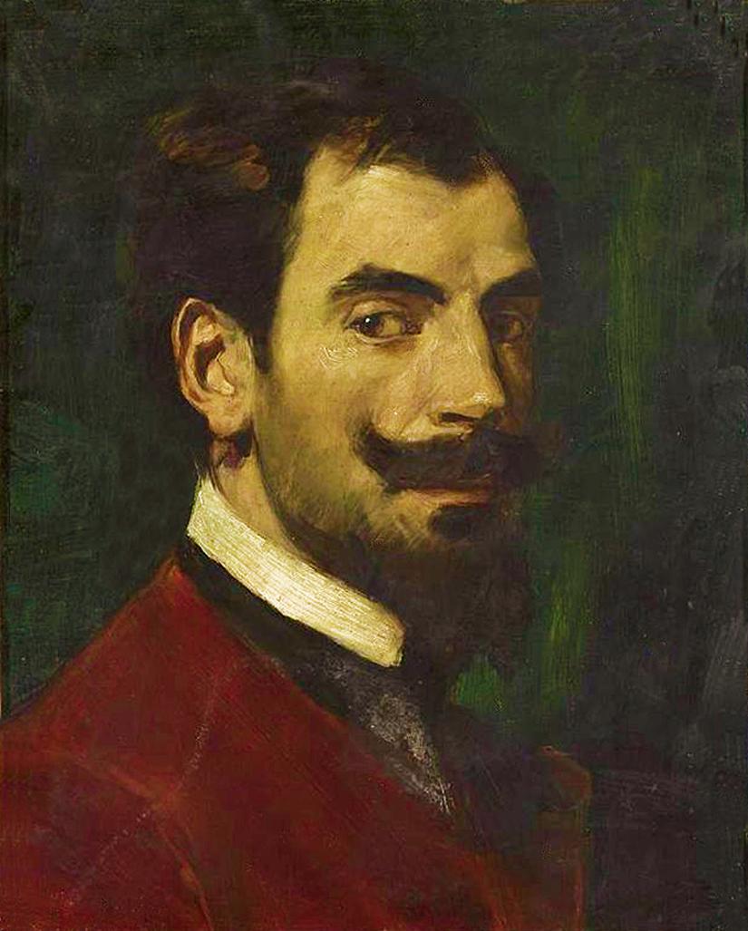 Ян Стика. Миртон Михальский, 1900; олія на деревяній основі; 46х37 см; NMW