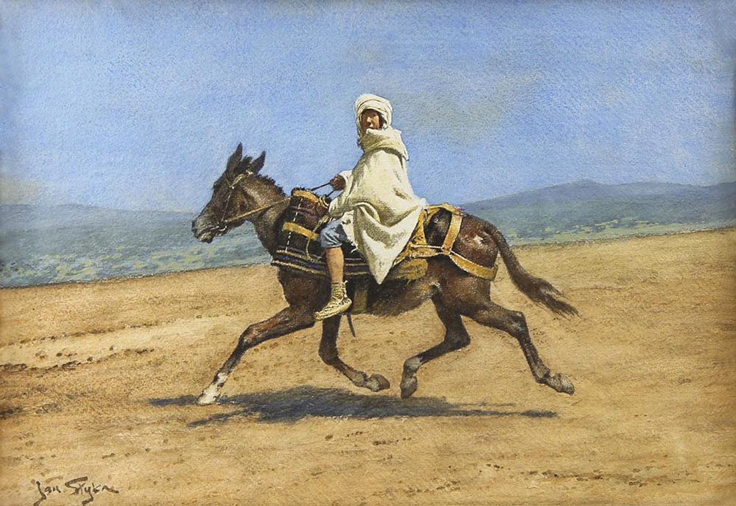 Ян Стика. Палестина вершник, 1920; папір, акварель, 32х46 см
