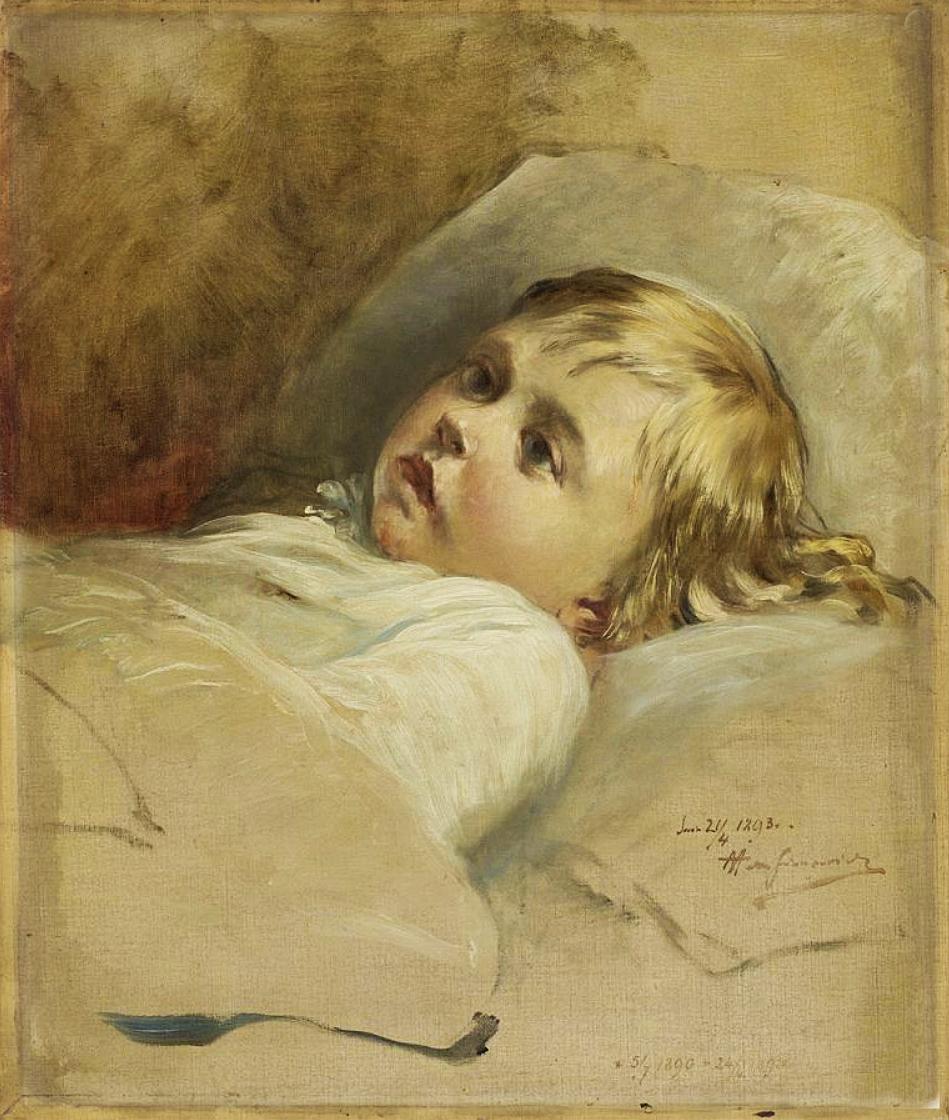 Марцелій Гарасимович. Дитячий портрет, 1893; олія на полотні, 53х45 см