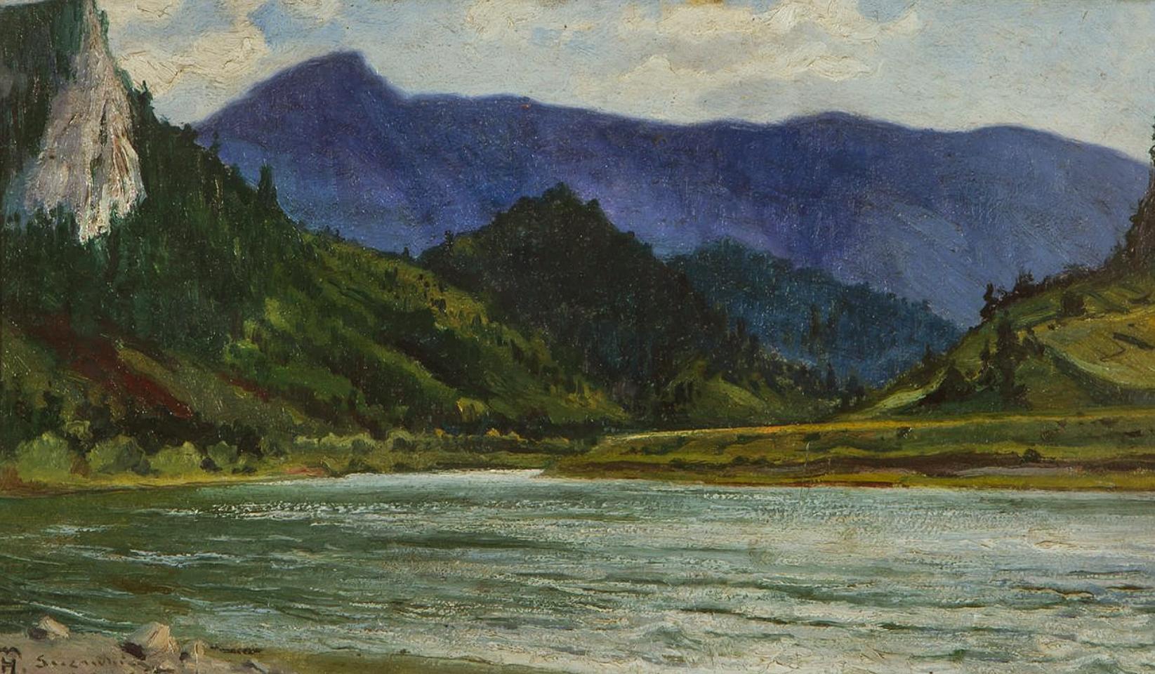 Марцелій Гарасимович. Гірський пейзаж, 1919; картон, олія, 24х40 см