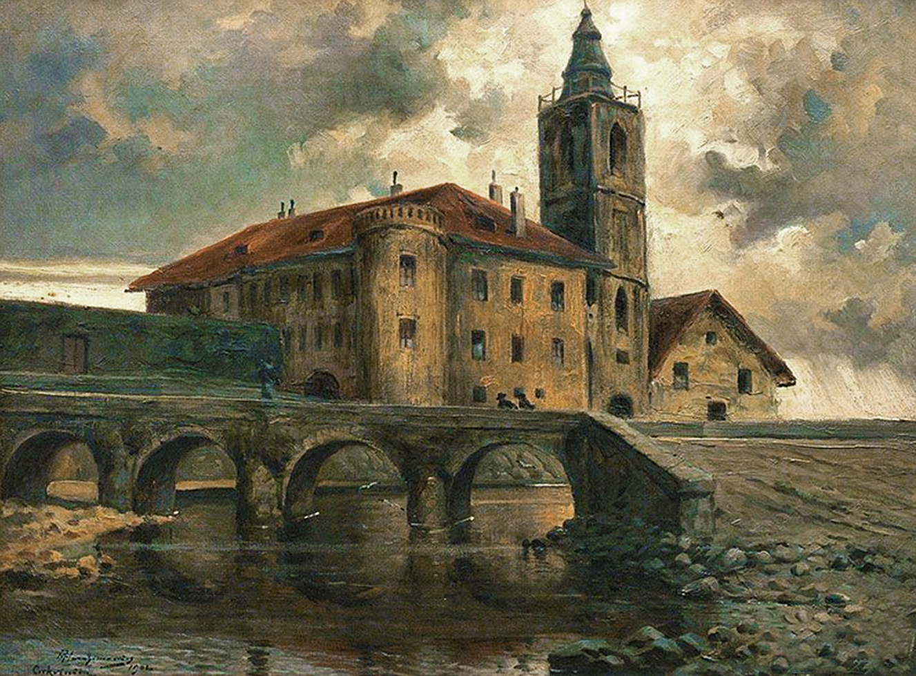 Марцелій Гарасимович. Хорватія, замок в Цриквениці, 1902; олія на полотні, 45х60 см