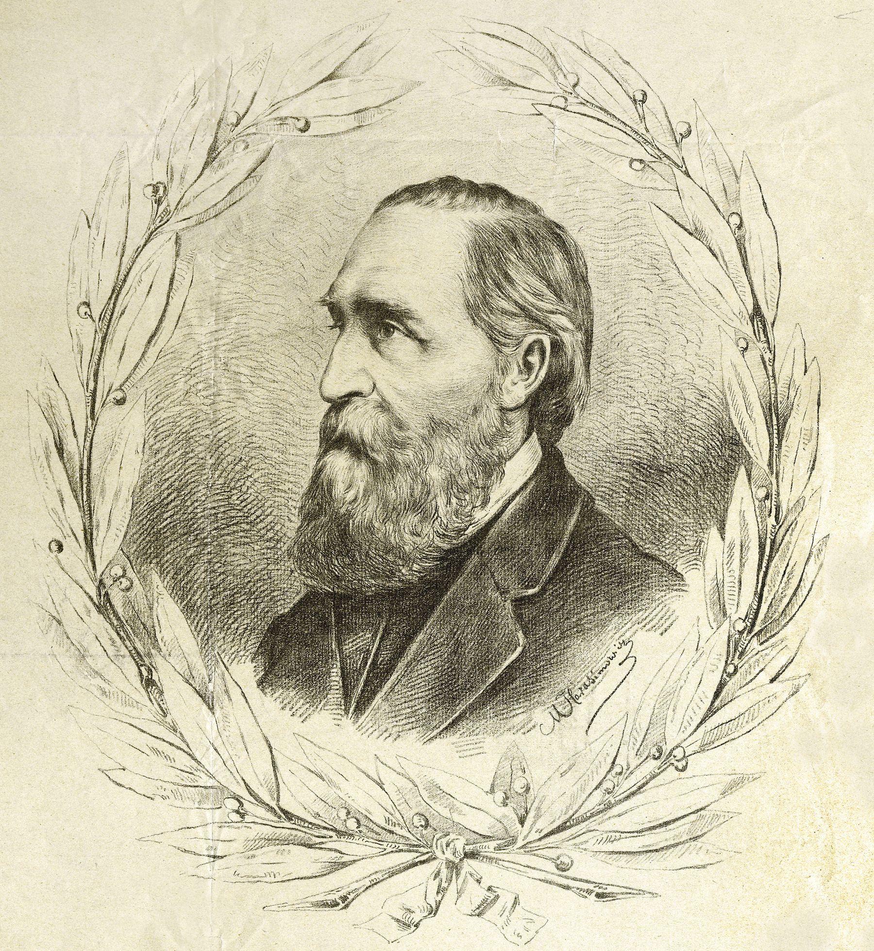 Марцелій Гарасимович. Ігнацій-Юзеф Крашевський, 1879; літографія