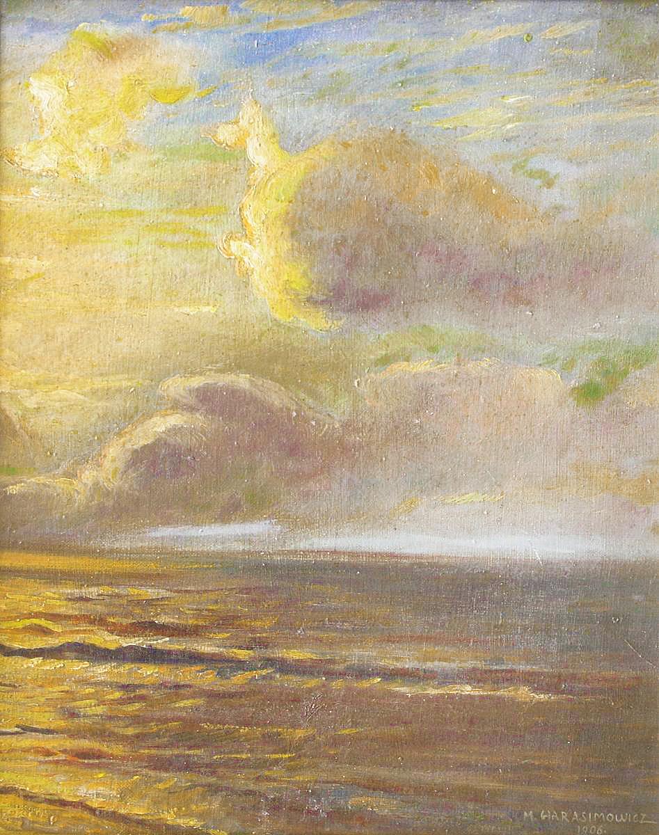 Марцелій Гарасимович. Море, 1906; олія, картон, 47х38 см