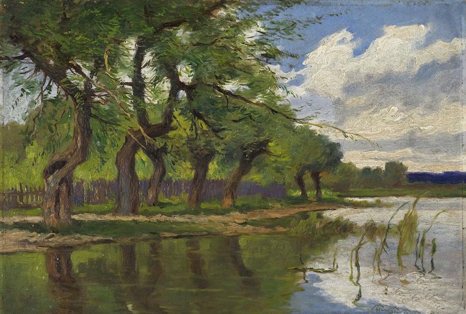 Марцелій Гарасимович. Пейзаж, 1924; картон, олія, 34х48 см