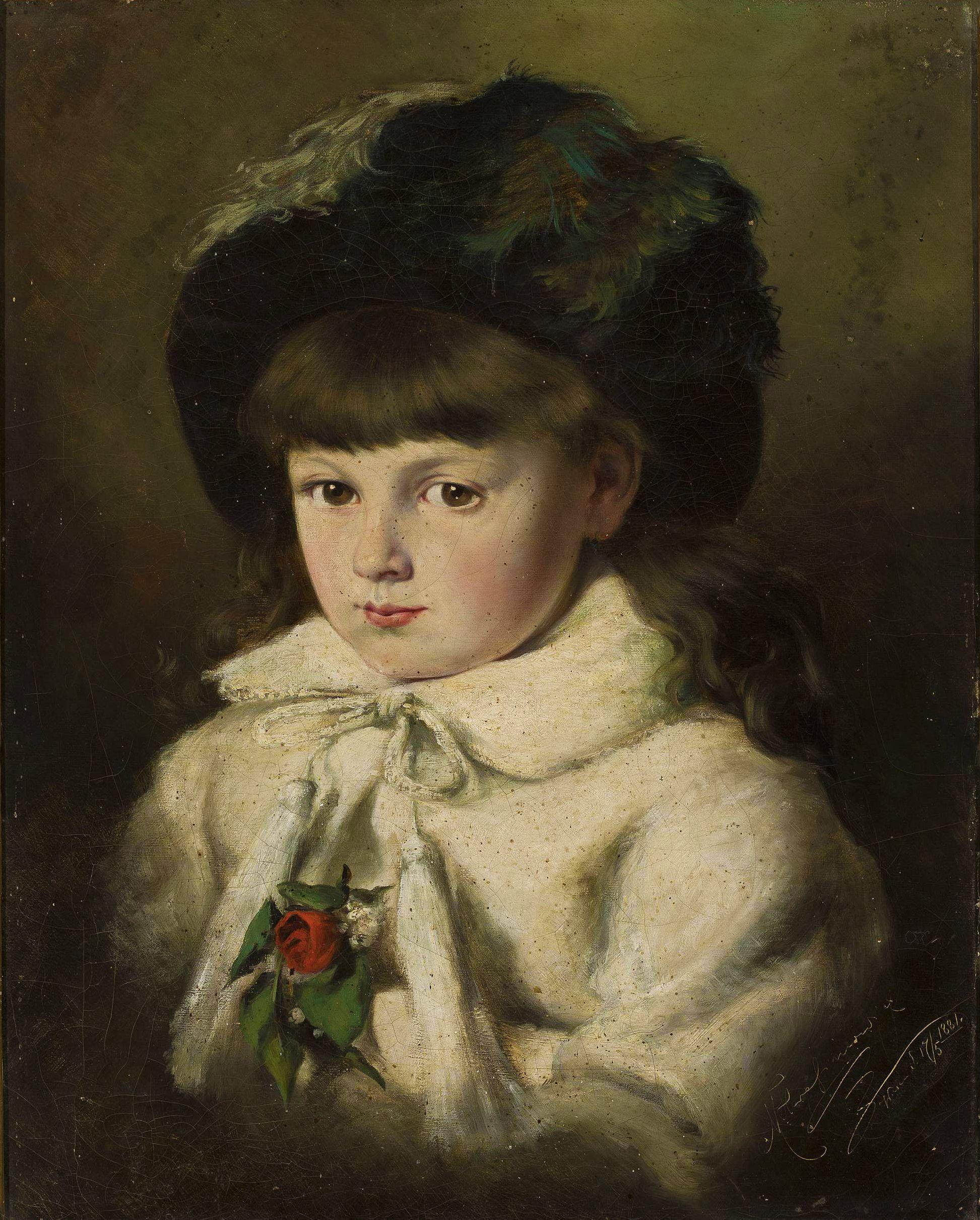 Марцелій Гарасимович. Портрет дівчинки, 1881; олія на полотні, 53х42 см; NMW