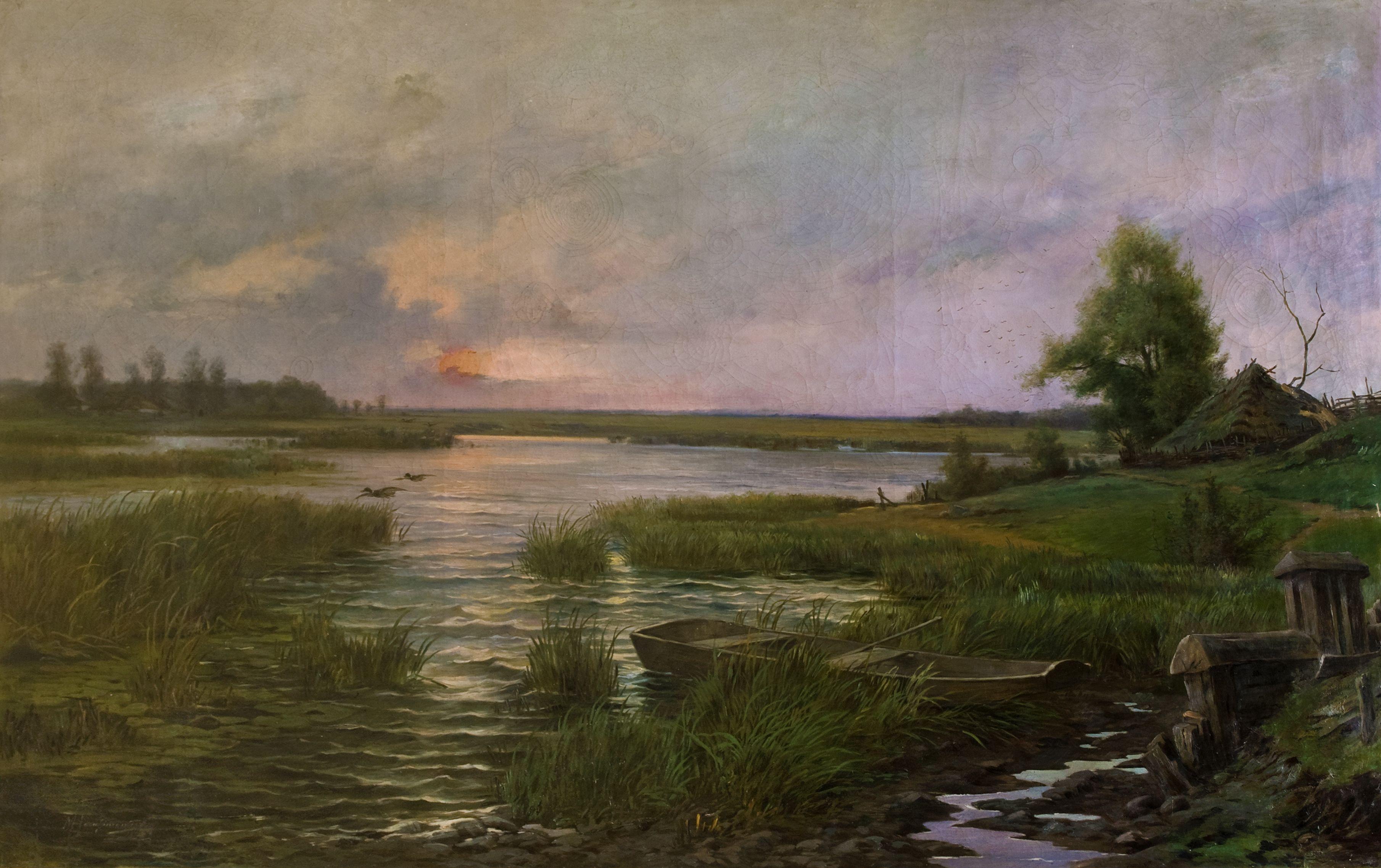 Марцелій Гарасимович. Став, 1898; олія на полотні, 125х197 см; ЛНГМ