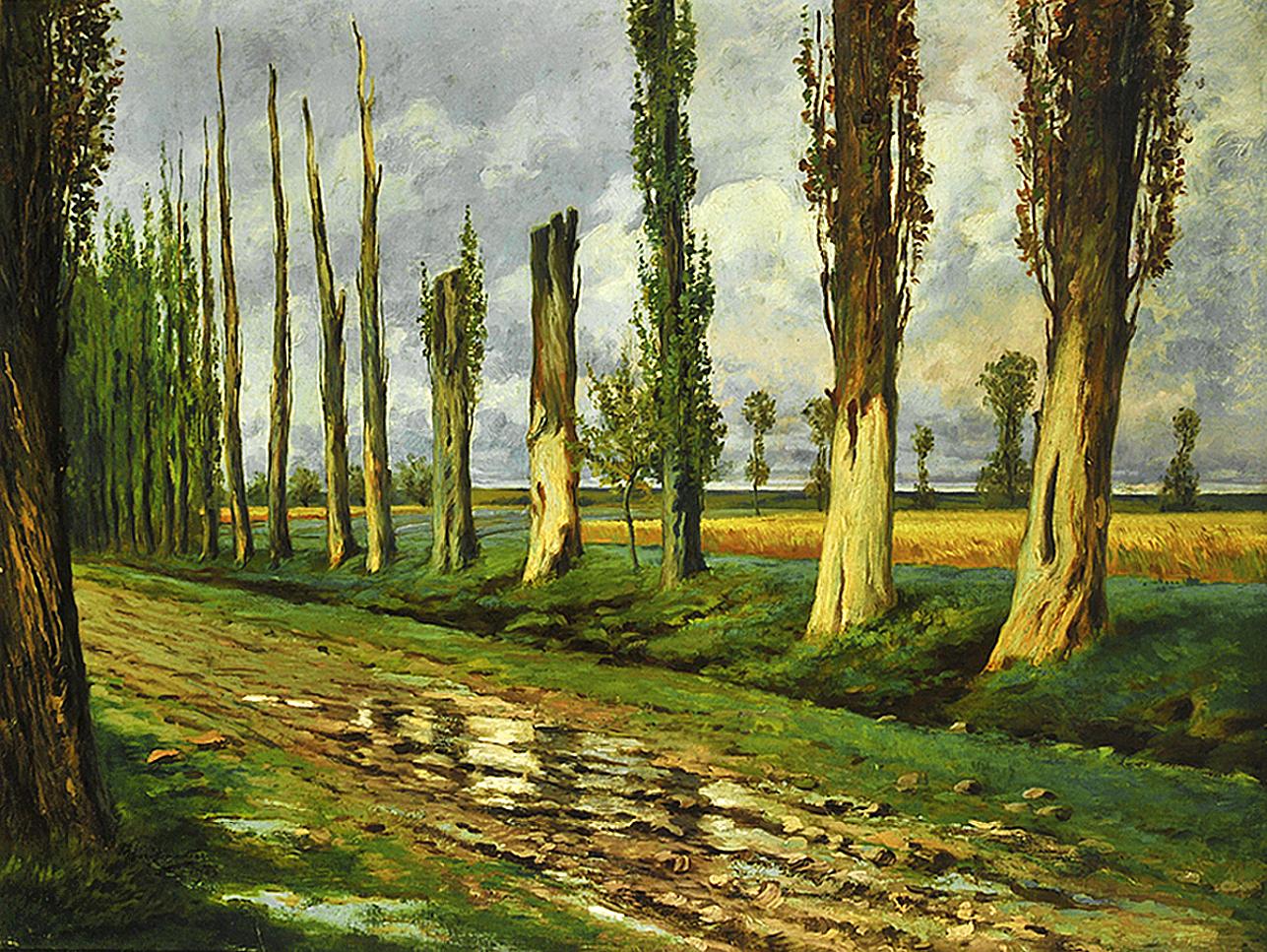 Марцелій Гарасимович. Тополі, 1903; олія на плотні, 86х112 см; MKUL