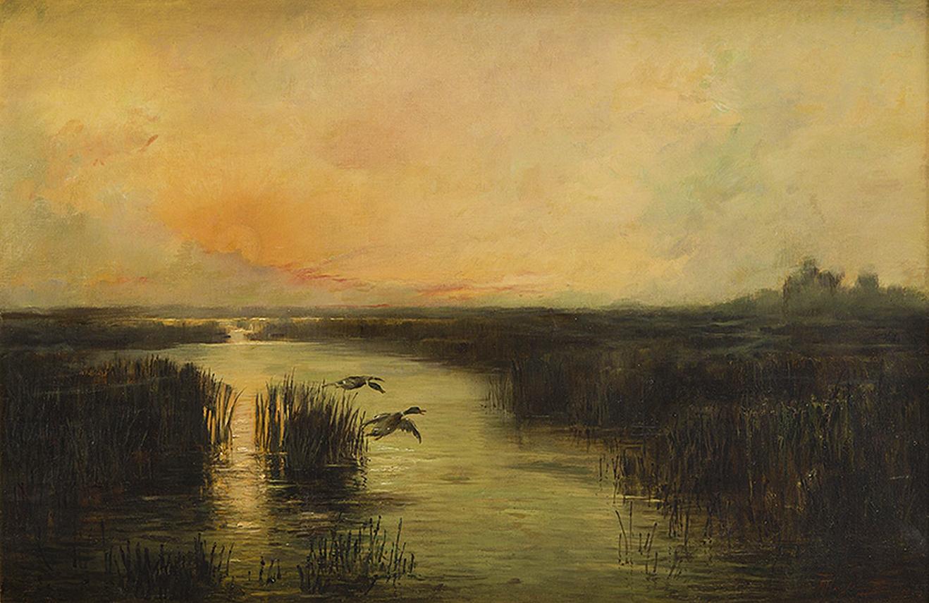 Марцелій Гарасимович. Заплави Полісся, 1894; олія на полотні, 61х92 см