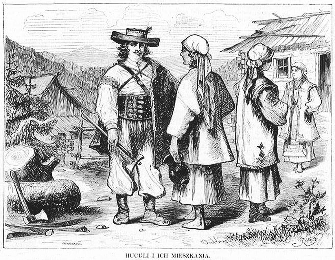 Кароль Млодніцький. Гуцули, 1872; 16х21 см