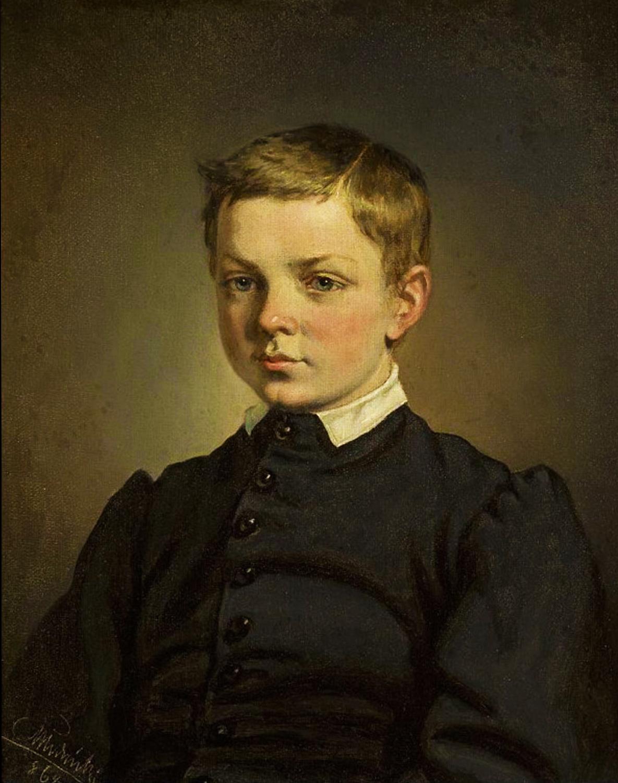 Кароль Млодніцький. Портрет хлопчика, 1864; олія, полотно, 30х25 см; NMW