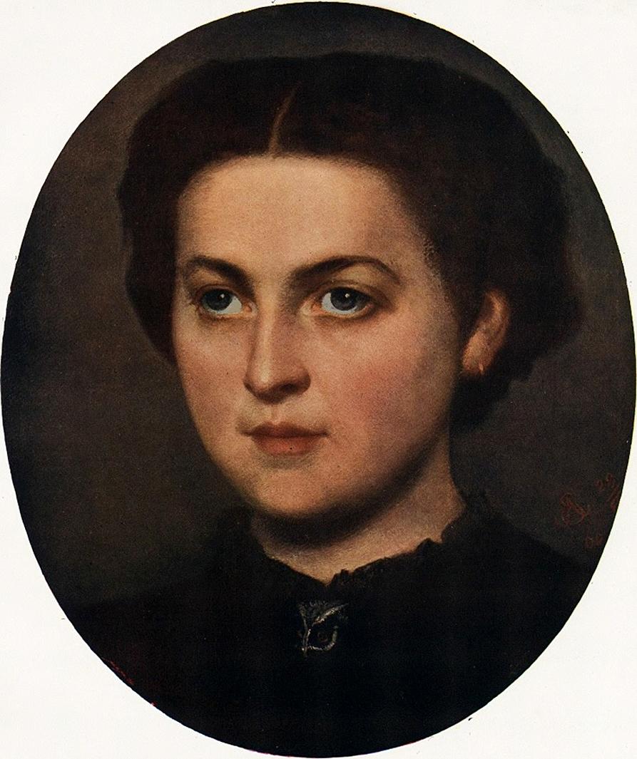 Кароль Млодніцький. Ванда Монне, 1866; олія, полотно
