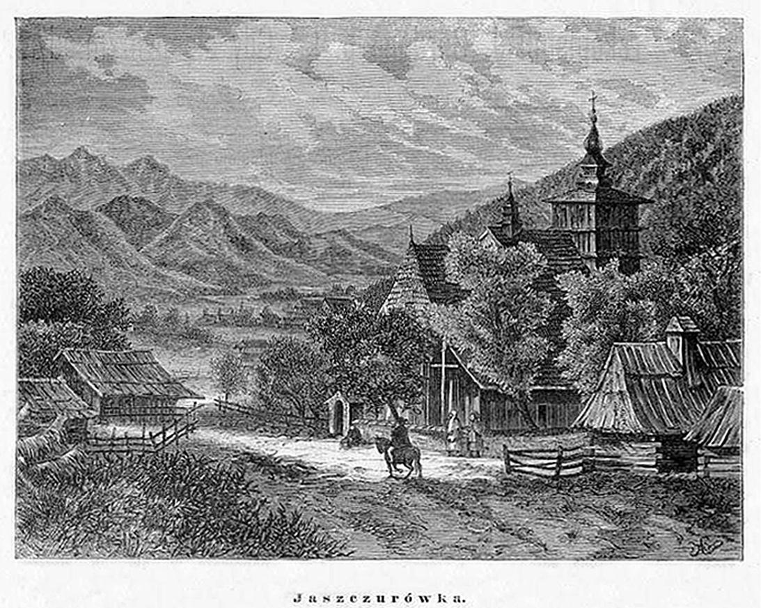 Кароль Млодніцький. Закопанський пейзаж, 1870; рисунок, 11х15 см