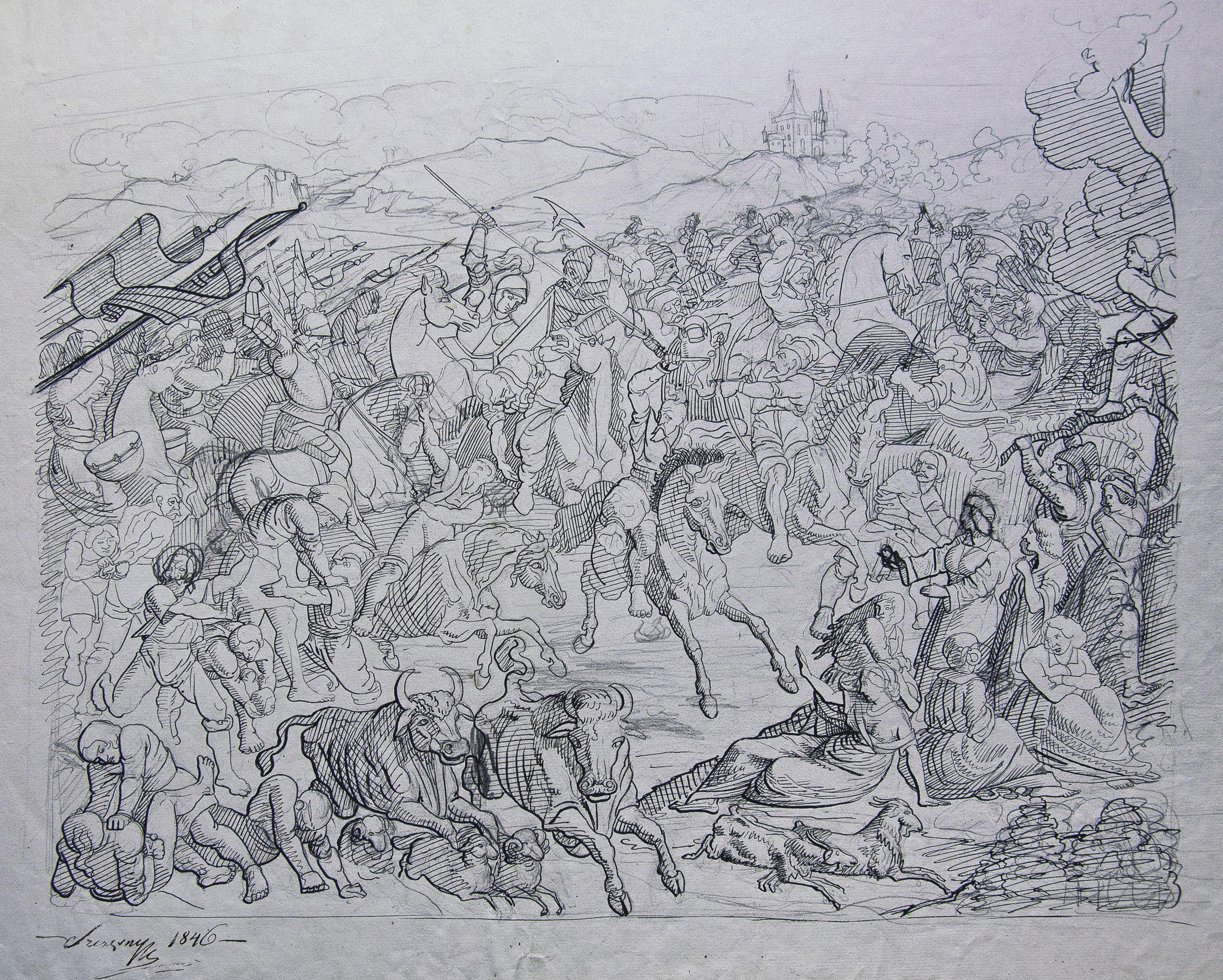Фелікс Ян Щенсни Моравський. Битва з татарами, 1846