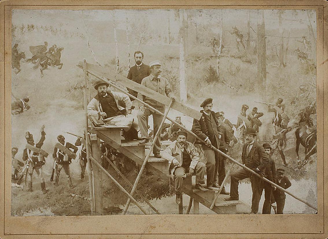 Ян Стика, Войцех Коссак, Тадеуш Попель. Панорама Рацлавицька, 1894