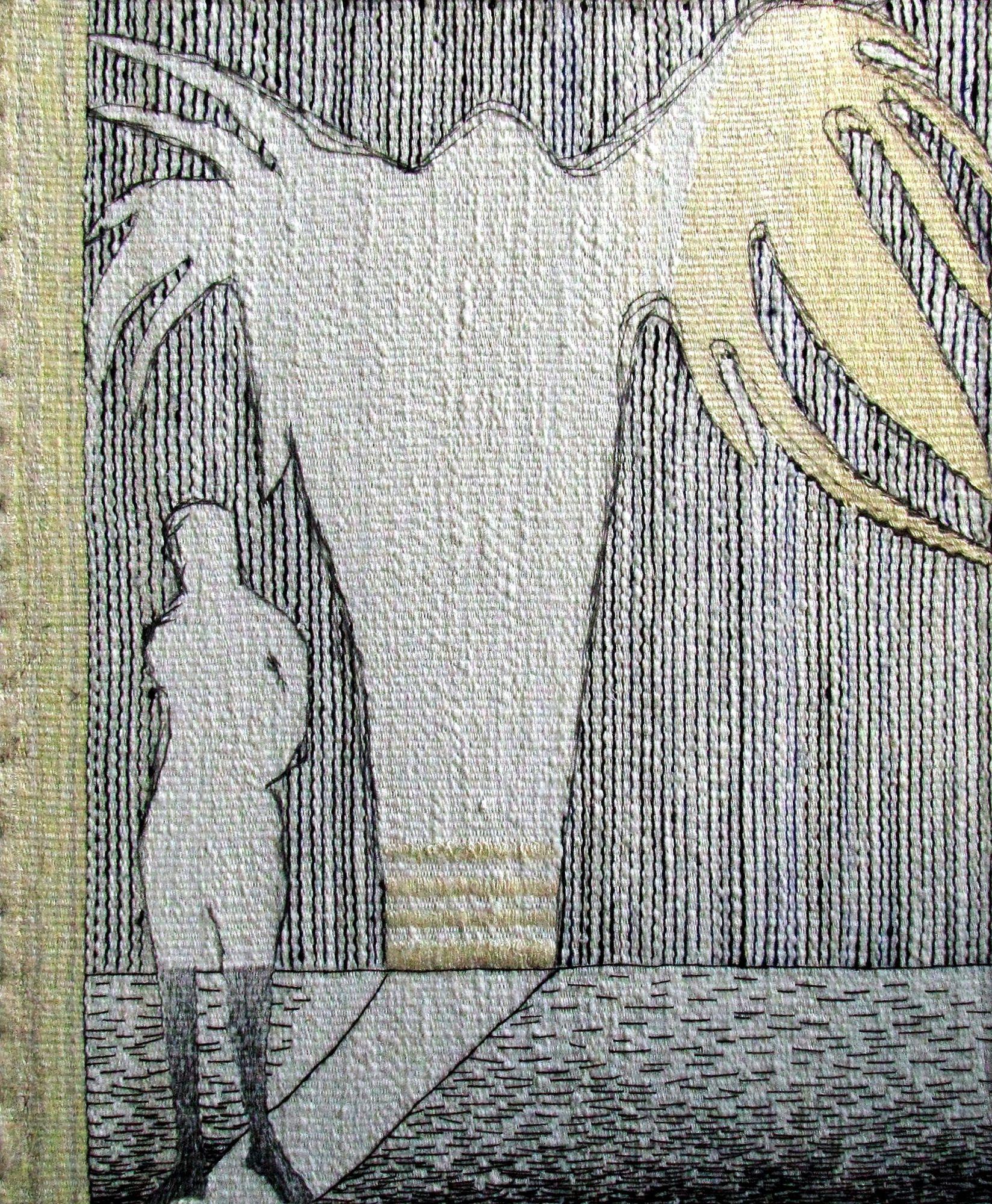 Ксенія Гопко. Альтерантивна реальність. Політ, 2012; гобелен, 50х55 см