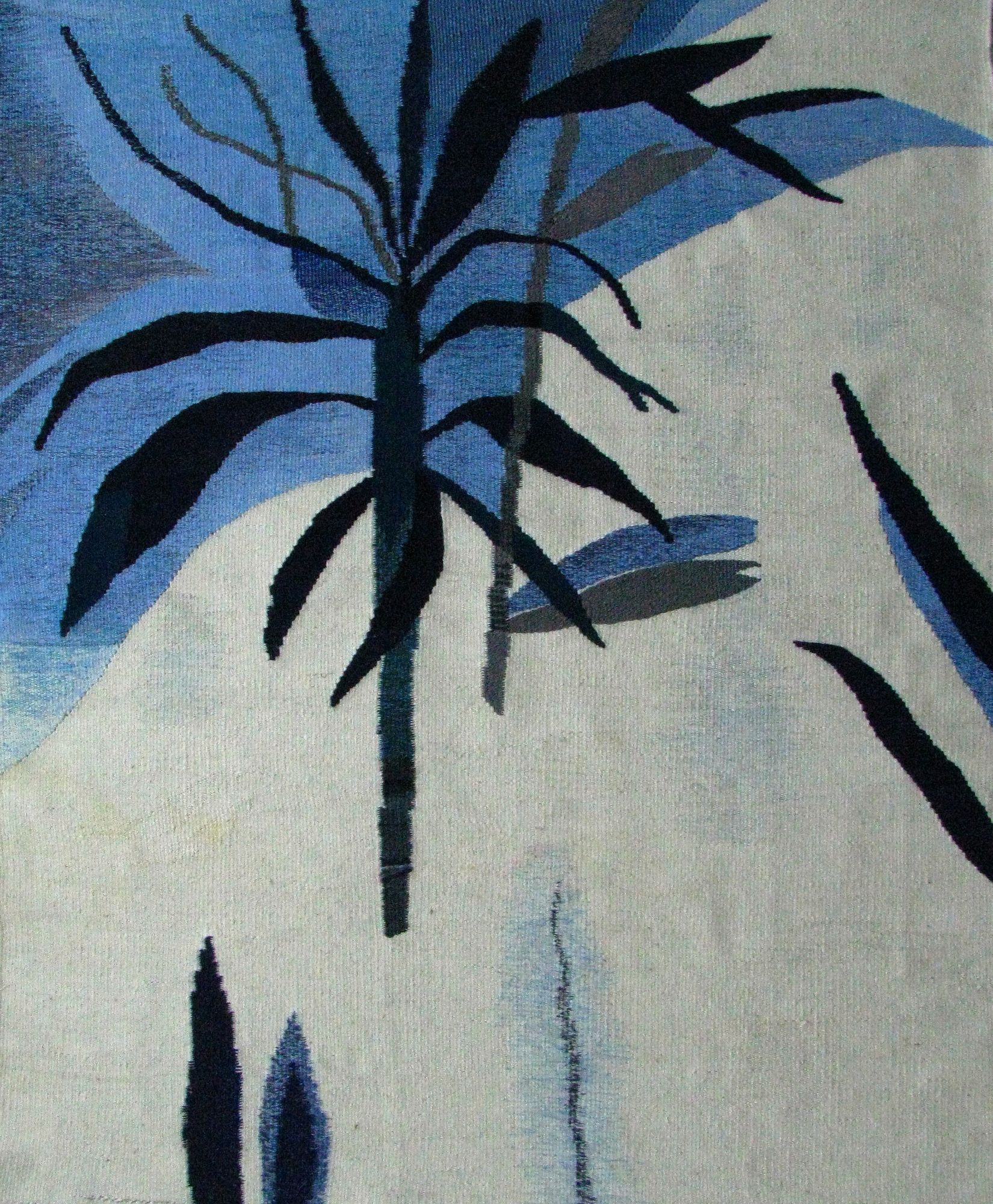 Ксенія Гопко. Пальмова гілка, 2018; гобелен, 65х84 см
