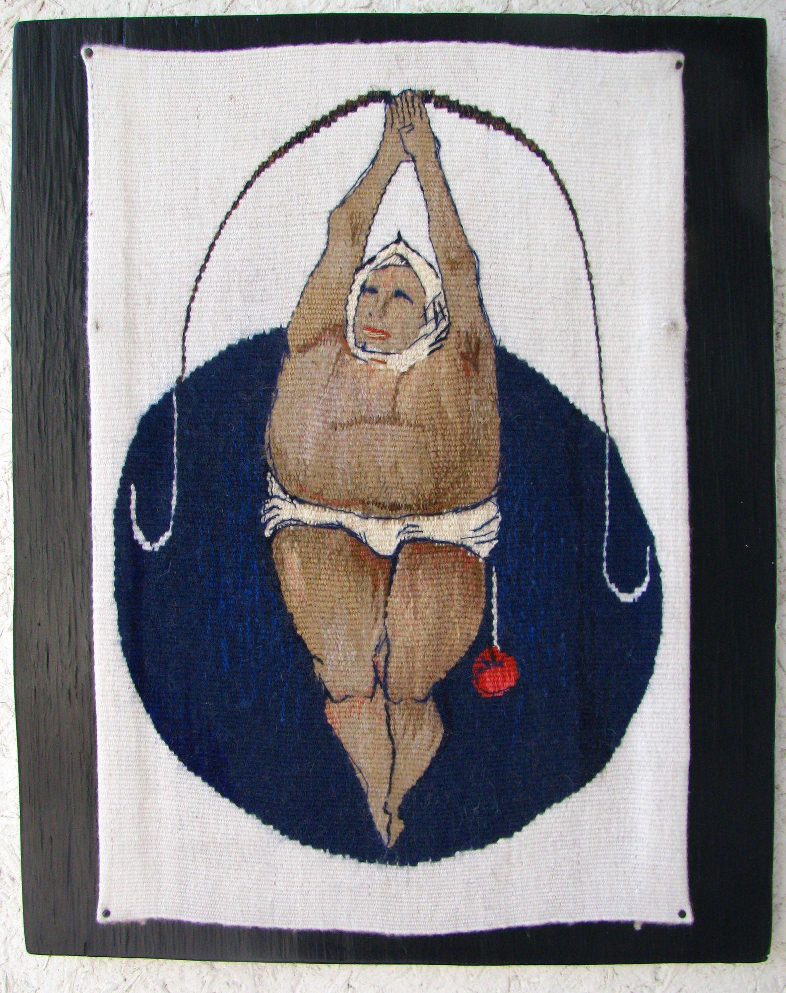 Ксенія Гопко. Повисла, 2013-14; гобелен, 18х22 см