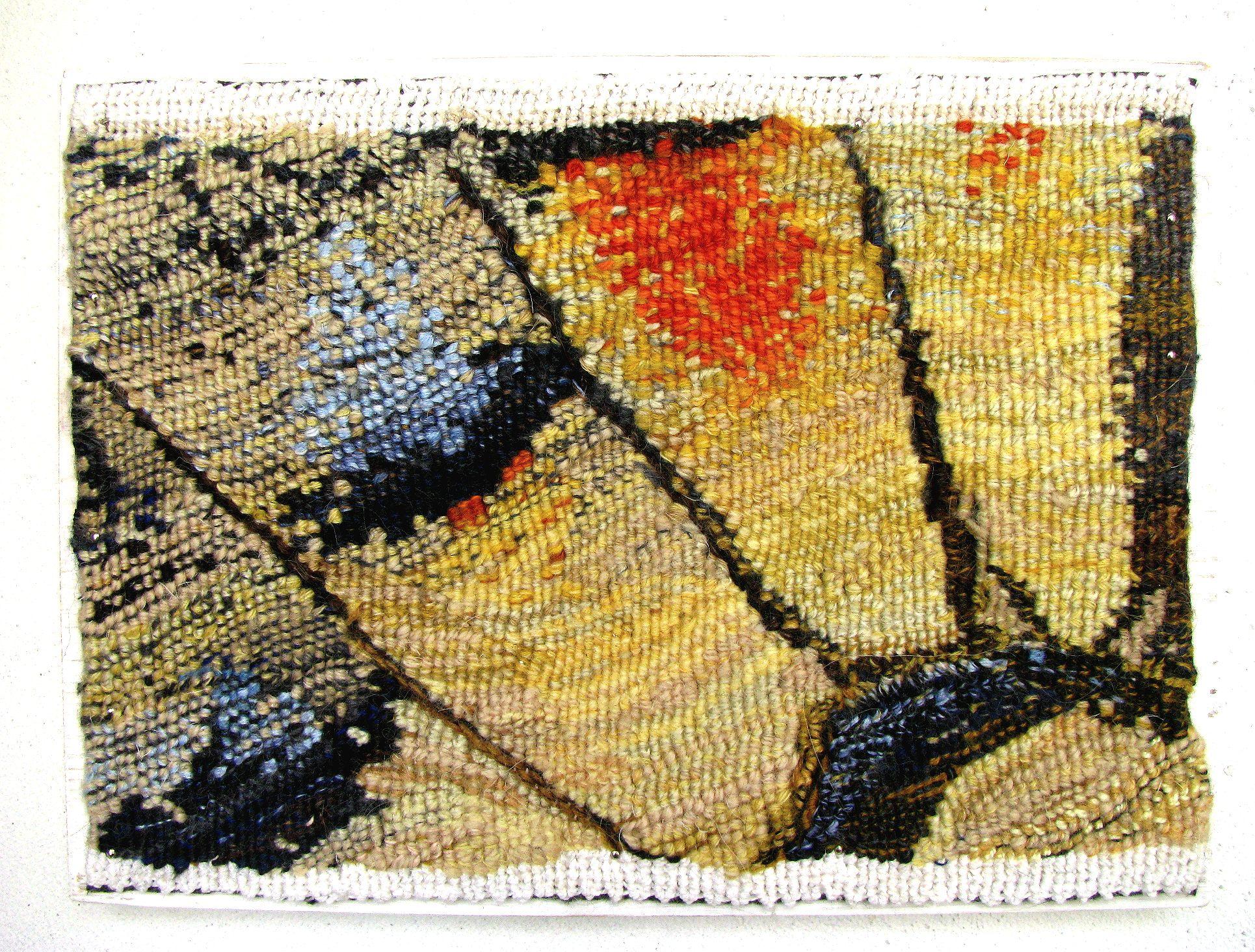 Ксенія Гопко. Природні мотиви (фрагмент крил метеликів), 2015; гобелен, 15х20 см