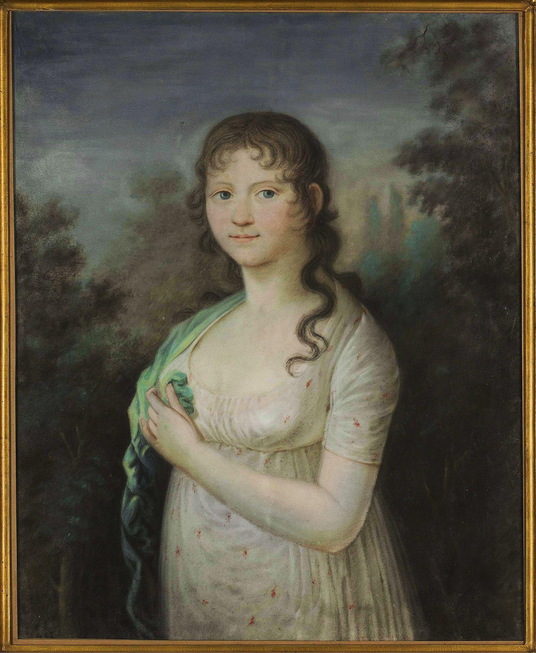 Юзеф Рейхан. Луїза Ковнацька, 1805; папір, пастель; MNW
