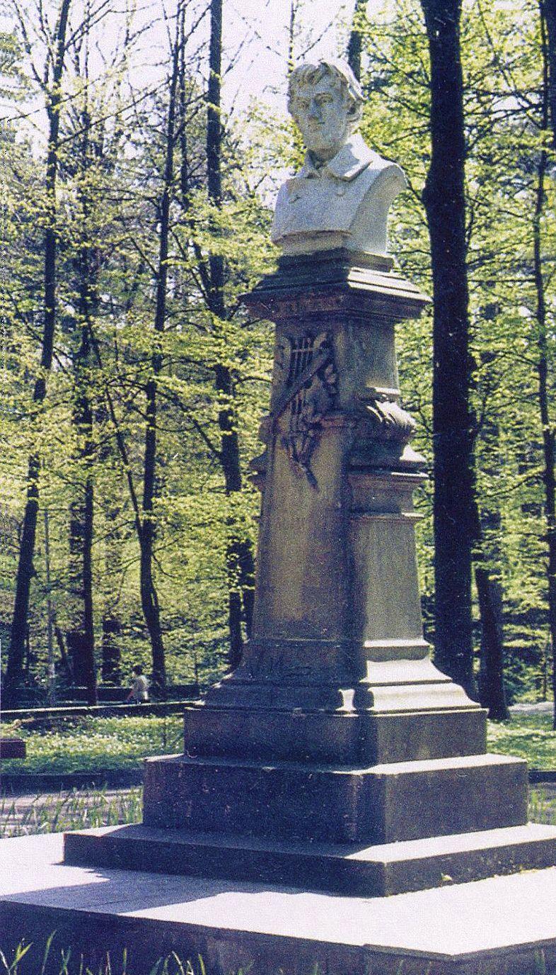Тадеуш Баронч. Пам'ятник Адаму Міцкевичу, Трускавець, 1900