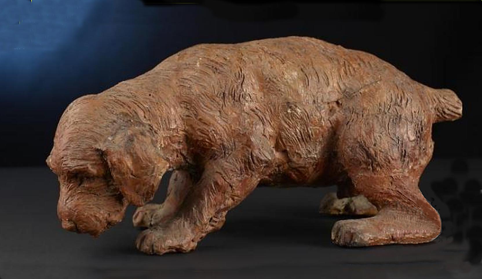 Тадеуш Баронч. Собака, 1881; теракота h-14; NMK