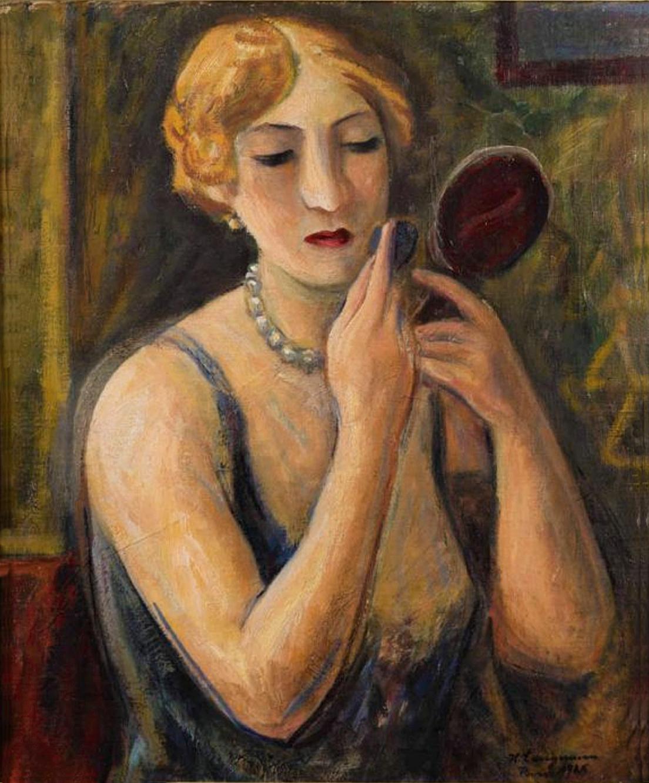 Генрик Лангерман. Макіяж, 1925; олія, полотно