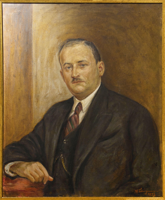Генрик Лангерман. Портрет чоловіка, 1933;  олія, полотно; ЛНГМ
