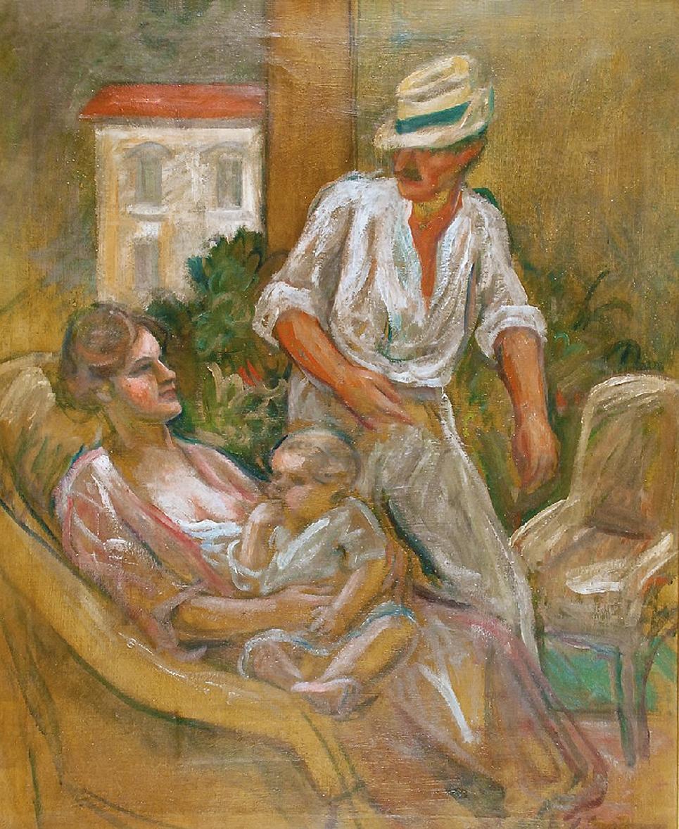 Генрик Лангерман. Родина, 1931; олія, полотно