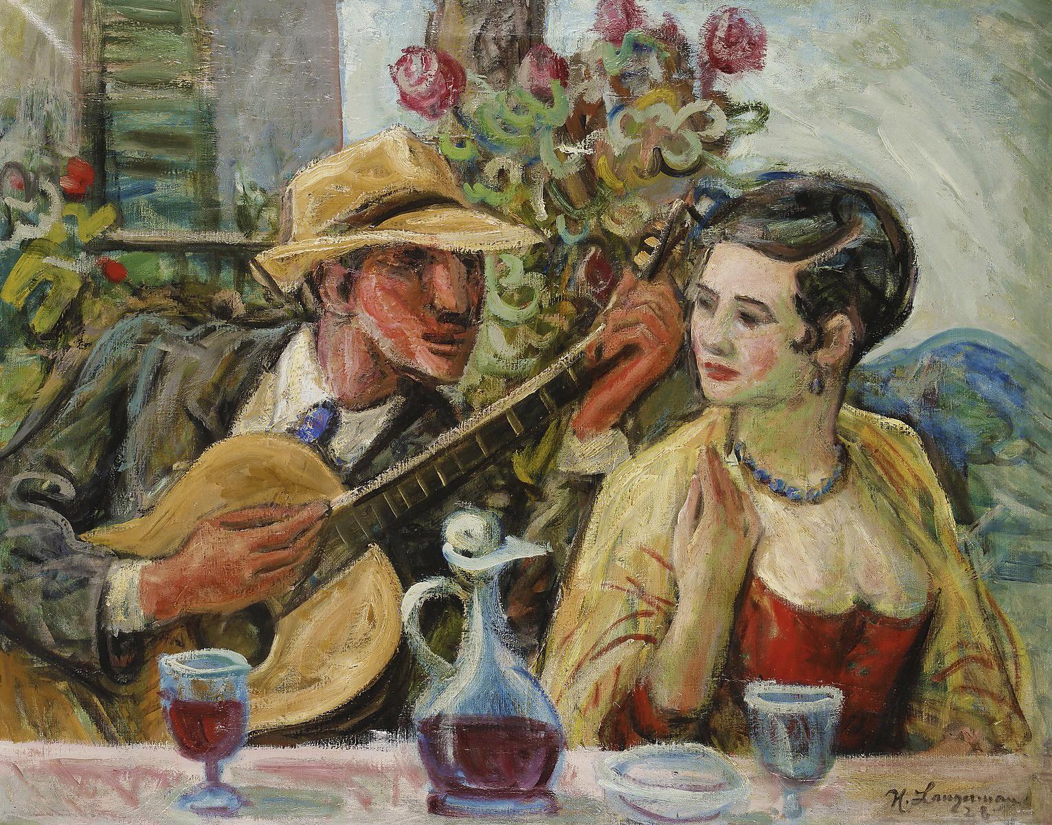 Генрик Лангерман. Серенада, 1926; олія, полотно