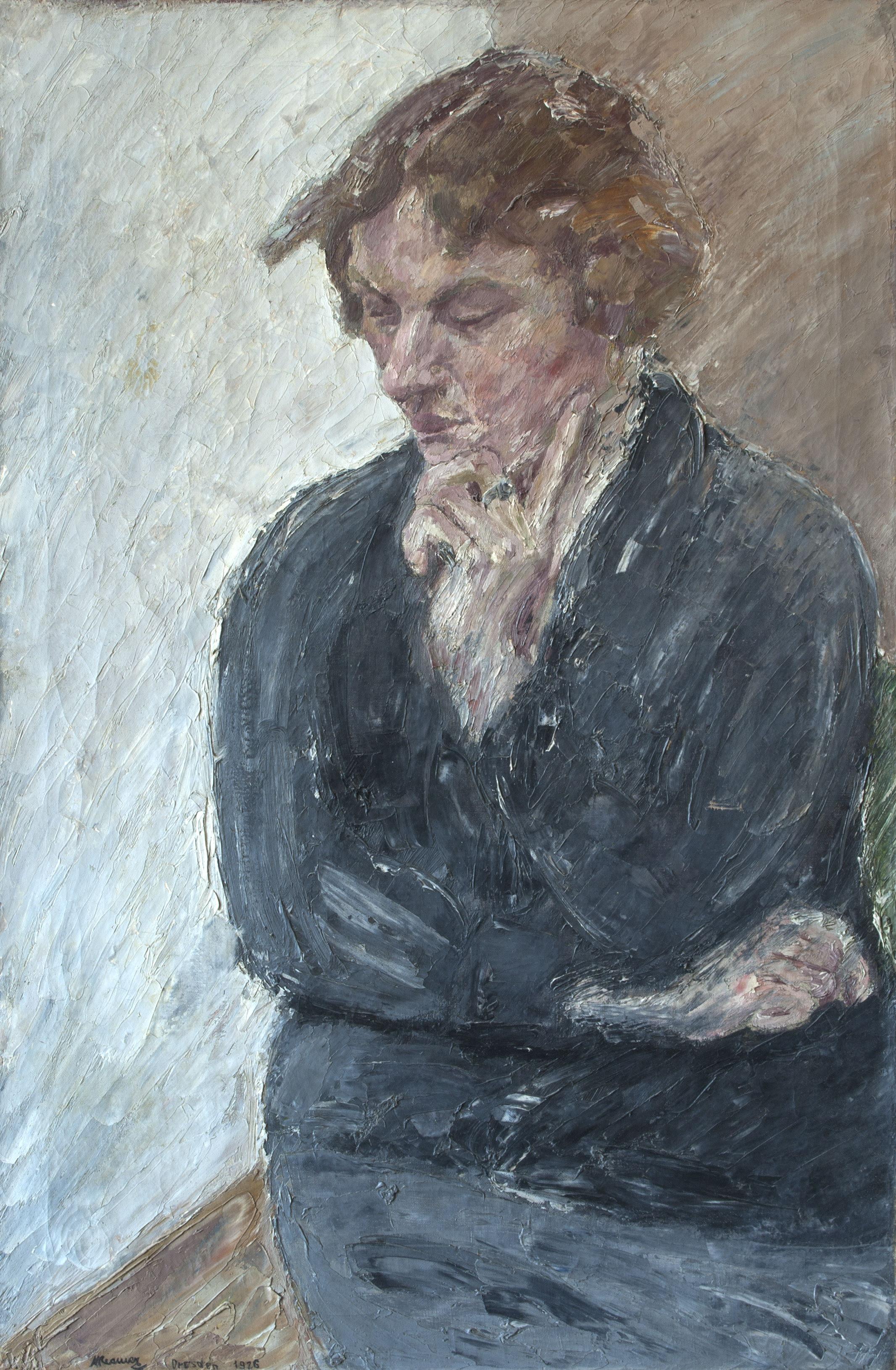Александер Рімер. Портрет жінки; олія, полотно