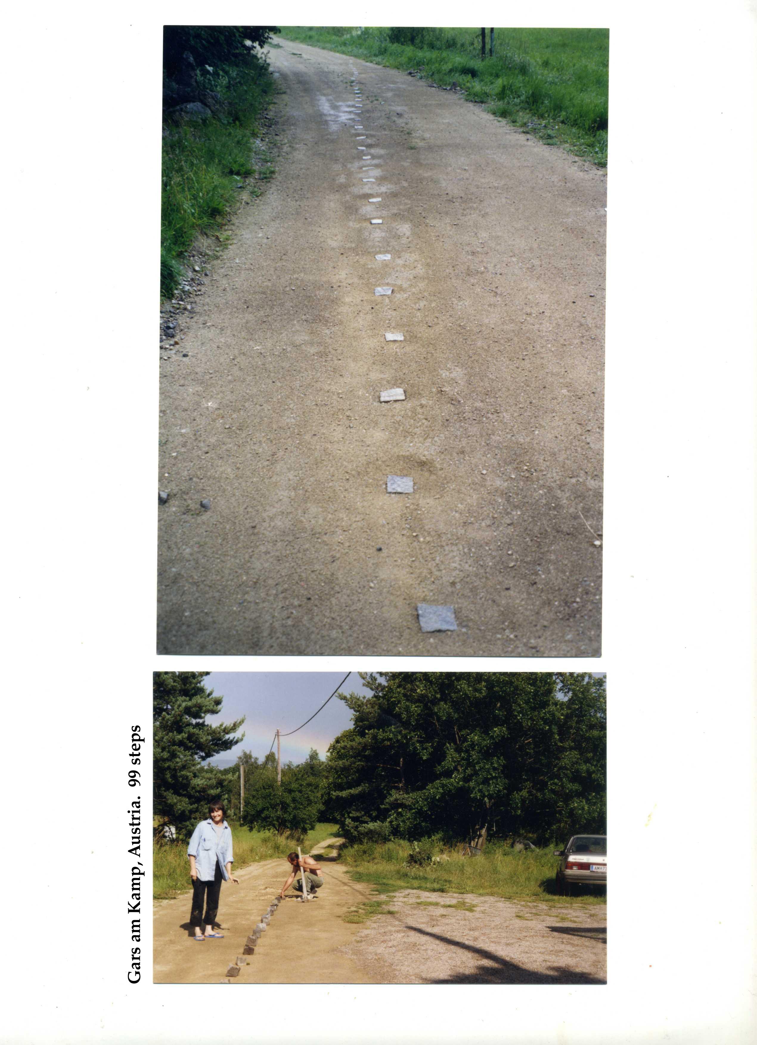 Анна Сидоренко. Енвайронмент «99 кроків», 2004, Gars am Kamp, Австрія