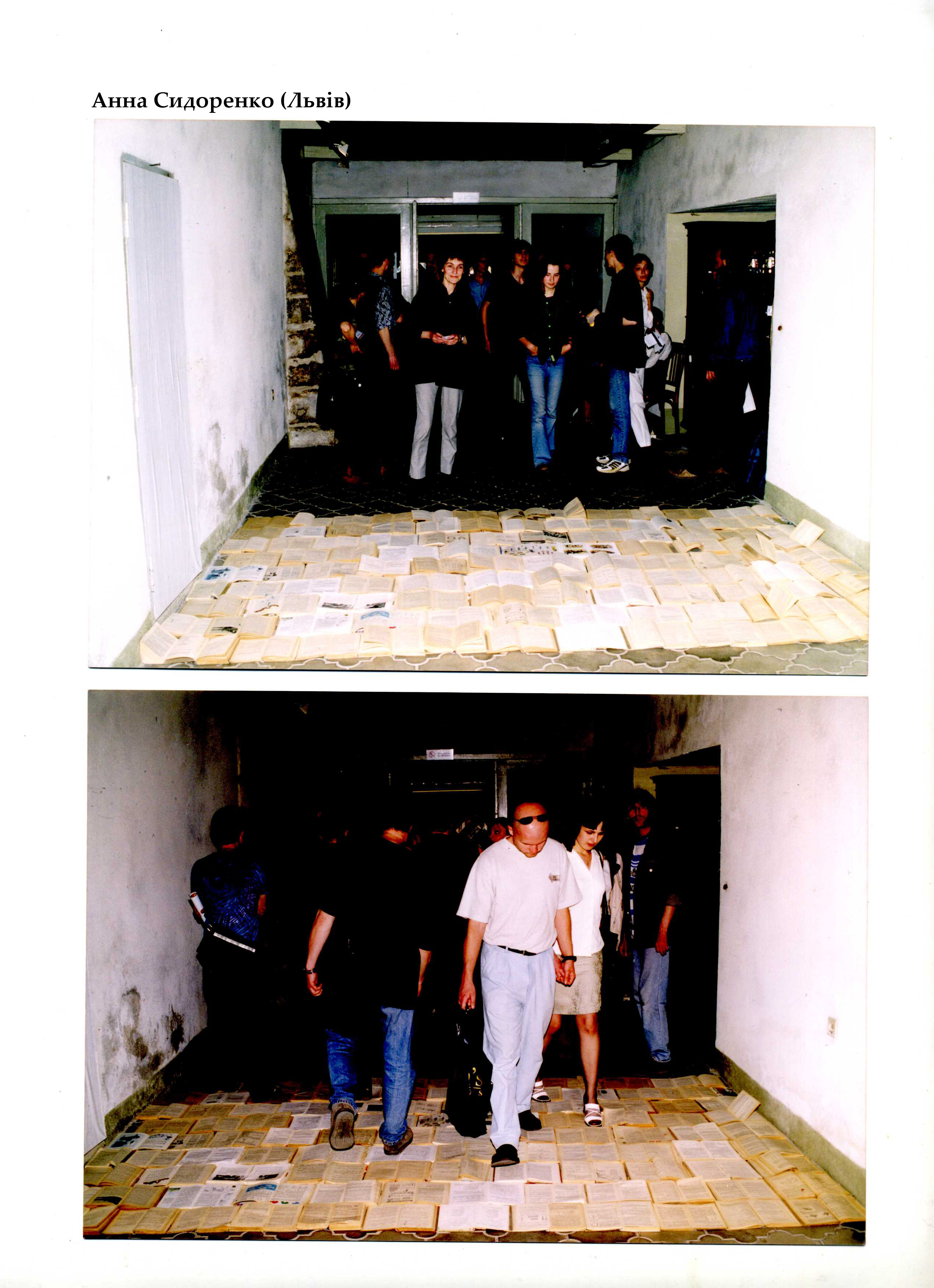 Анна Сидоренко. Міжнародний фестиваль «Мова». Галерея «Дзиґа», 2001