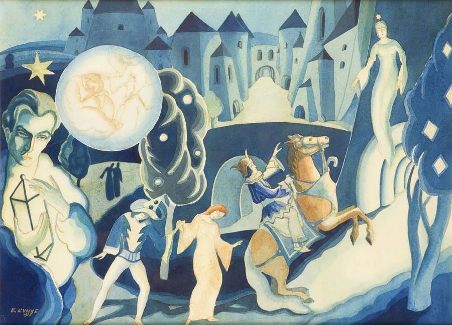 Еміль Кунке. Чудесний сон, 1926; акварель, 43,5х59 см