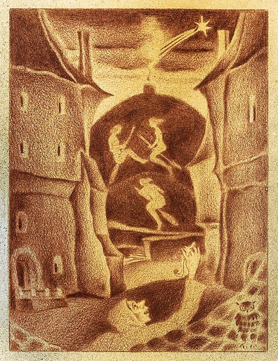 Еміль Кунке. Відьми, 1931 літографія